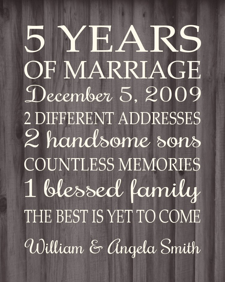 5 Year Wedding Anniversary Gift Ideas Wood : ... gift for the 5 year anniversary because wood is the theme for 5 years